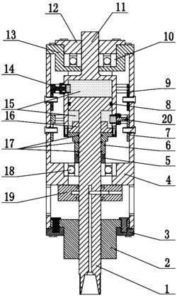 一种电解加工机床主轴用直线-旋转复合运动装置