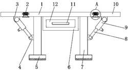一种可调节的集成电路生产用工作台