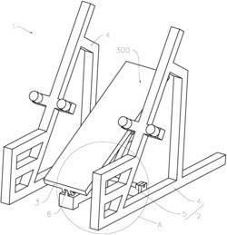 一种结构改进的卧推式哑铃杠铃架