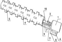 一种用于四氯化碳处理设备的螺旋式微燃烧器