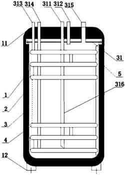 多层螺旋盘管式交换器