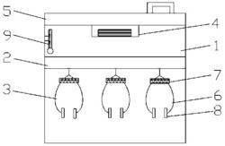 安装除湿器的喷枪放置箱