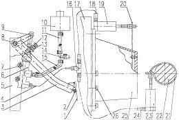 一种副发动机离合制动装置