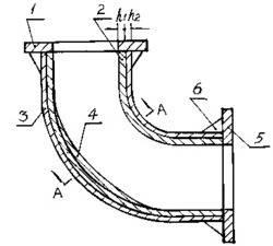 一种用于疏浚工程输送管线的弯头设计方法及其弯头