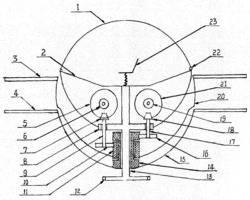 共轴反桨球形飞行器传动系统