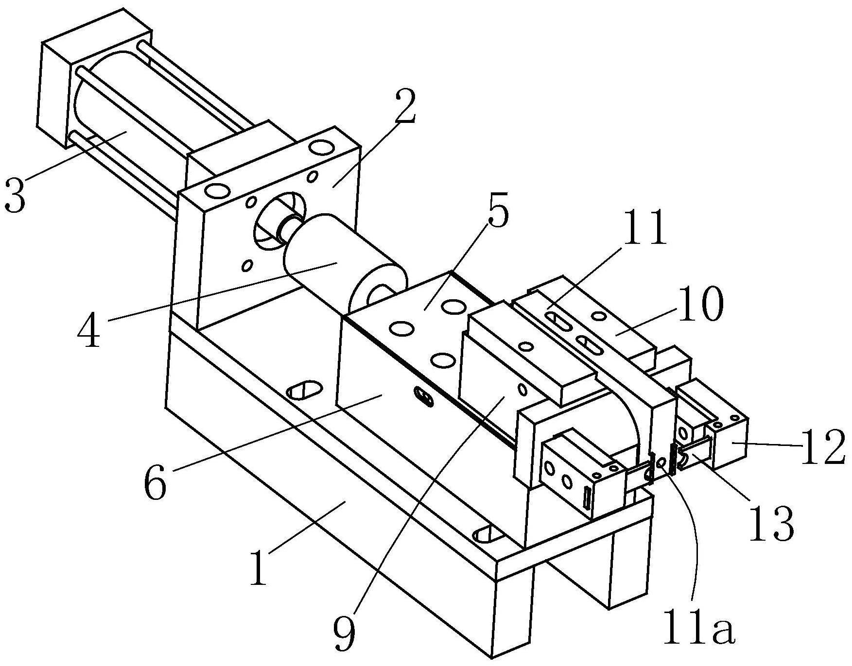 一种铝管修边车床专用拔胶粒系统