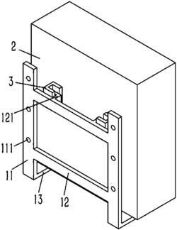 一种壁挂式电控箱的减震结构
