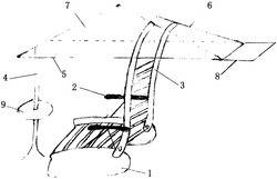 一种带椅子的休憩亭