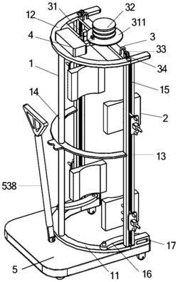 一种带移动平台的油桶搬运装置