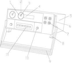 一种电力工程用同轴双指针仪表
