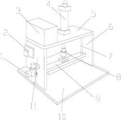一种新型的具有涂胶功能的压板机