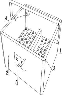 一种偏心轮上下运动式足底按摩装置及其工作方法