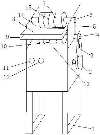 一种竹条分片机