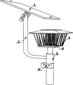 一种带有自动清洁功能的太阳能园林昆虫扑集灯及其工作方法