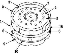 一种具有LED发光二极管的地震传感声光报警器
