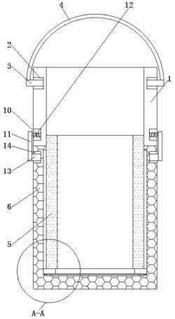 一种可变化体积的污水检测用取样器