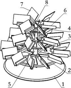 一种塔型名片座