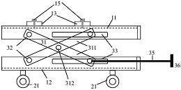 一种柱的剪刀式加载定位装置及加载定位方法