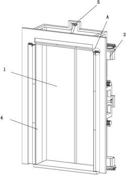 一种能够自动扩边的电梯门