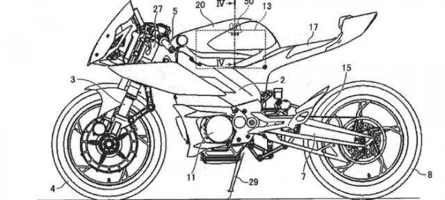 专利图暗示雅马哈开始涉足电动摩托车