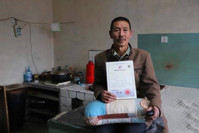 内蒙古农民手制枕头获国家专利